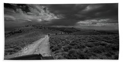 Storm Clouds Over The 4x4 Trail Bath Towel