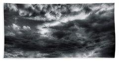 Storm Clouds Ventura Ca Pier Hand Towel by John A Rodriguez