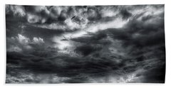 Storm Clouds Ventura Ca Pier Bath Towel