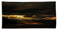 Storm Hand Towel by Elaine Hunter