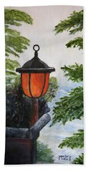 Hand Towel featuring the painting Storm On Lake Of The Woods by Marilyn  McNish