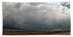 Storm On Route 287 N Of Ennis Mt Hand Towel