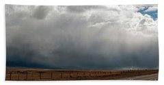 Storm On Route 287 N Of Ennis Mt Hand Towel by Cindy Murphy - NightVisions