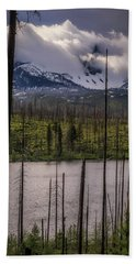 Bath Towel featuring the photograph Storm On Three Fingered Jack by Cat Connor