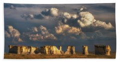 Storm Over Monument Rocks Bath Towel