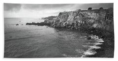 Storm Over The Eastern Shoreline Of Angra Do Heroismo Terceira Bath Towel