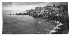 Storm Over The Eastern Shoreline Of Angra Do Heroismo Terceira Bath Towel