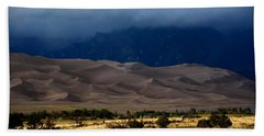 Storm Over The Great Dunes Colorado  Hand Towel