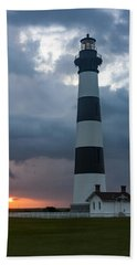 Storm Passes Bodie Island Lighthouse Bath Towel
