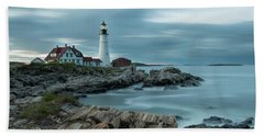 Storm Passing At Portland Head Light Hand Towel