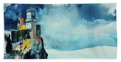 Storm The Castle Hand Towel by Tom Riggs
