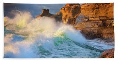 Hand Towel featuring the photograph Storm Watchers by Darren White