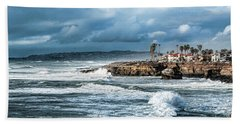 Storm Wave At Sunset Cliffs Hand Towel
