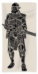 Stormtrooper Samurai - Star Wars Art - Black Hand Towel