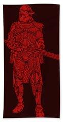 Stormtrooper Samurai - Star Wars Art - Red Hand Towel