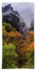 Stormy American Fork Canyon - Wasatch - Utah Bath Towel by Gary Whitton