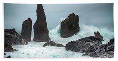 Stormy Iclandic Seas Hand Towel