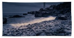 Stormy Lighthouse 2 Bath Towel
