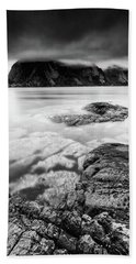 Stormy Lofoten Hand Towel by Alex Conu