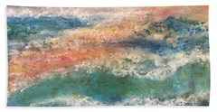 Hand Towel featuring the painting Stormy Seas by Kim Nelson