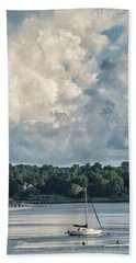 Stormy Sunday Morning On The Navesink River Hand Towel