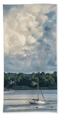 Stormy Sunday Morning On The Navesink River Hand Towel by Gary Slawsky