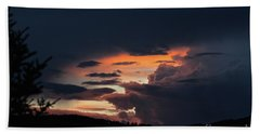 Bath Towel featuring the photograph Stormy Sunset by Ann E Robson