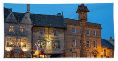 Bath Towel featuring the photograph Stow On The Wold - Twilight by Brian Jannsen