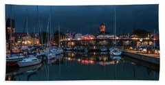 Stralsund At The Habor Hand Towel by Martina Thompson