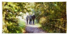 Strangers On A Footpath / In To The Light Bath Towel