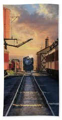 Hand Towel featuring the photograph Strasburg Railroad Station by Lori Deiter