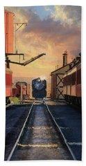 Bath Towel featuring the photograph Strasburg Railroad Station by Lori Deiter