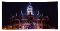 Stratford City Hall Christmas Bath Towel