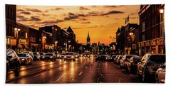 Stratford Main Drag At Dusk Hand Towel