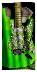 Stratocaster Plus In Green Hand Towel