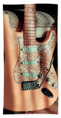 Stratocaster Plus In Shell Pink Bath Towel