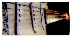 Stratocaster Pop Art Tangerine Sparkle Fire Neck Series Hand Towel