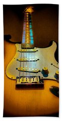 Stratocaster Tobacco Burst Glow Neck Series  Hand Towel