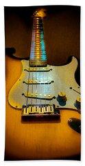 Stratocaster Tobacco Burst Glow Neck Series  Bath Towel