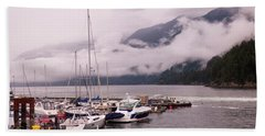 Stratus Clouds Over Horseshoe Bay Hand Towel