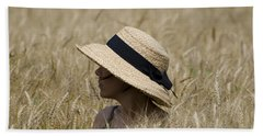 Straw Hat Hand Towel