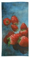 Bath Towel featuring the painting Strawberries by Jane See