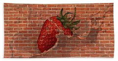 Strawberries And Cream Amazing Graffiti Hand Towel
