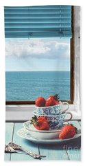 Strawberries By The Sea Hand Towel