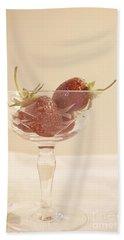 Strawberries In A Glass Bath Towel