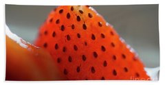Strawberry Close Up Bath Towel