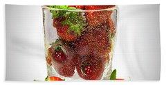 Strawberry Dessert Bath Towel by David French