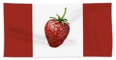 Hand Towel featuring the painting Strawberry by Heidi Kriel