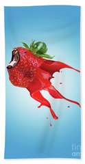 Hand Towel featuring the photograph Strawberry by Juli Scalzi