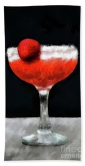Bath Towel featuring the photograph Strawberry Margarita by Lois Bryan